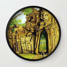 Threshold Guardian - Mythic Fantasy Wall Clock