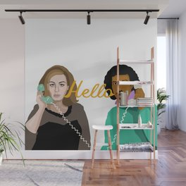 Two People Saying Hello - By Cup of Sarcasm Wall Mural