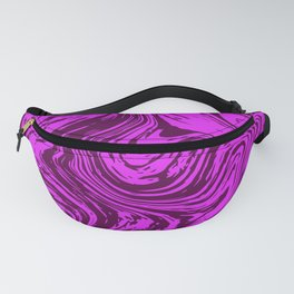 Abstract liquid fluid effect color pattern Fanny Pack
