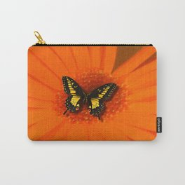 Orange Flower and the butterfly Carry-All Pouch