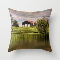 kentucky Throw Pillows featuring Kentucky CountrySide by ThePhotoGuyDarren