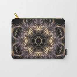 Purple and Gold Fractal Kaleidoscope 2 Carry-All Pouch