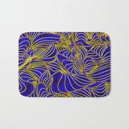 Curves in Yellow & Royal Blue Bath Mat