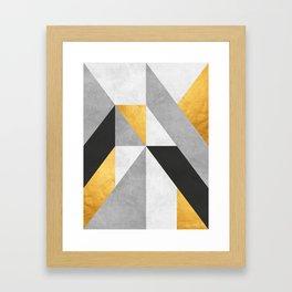 Gold Composition III Framed Art Print