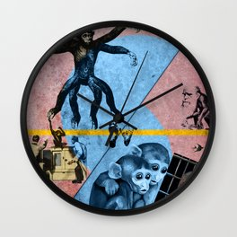 STOP THIS MONKEY BUSINESS !  Wall Clock