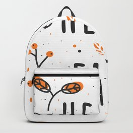 Hello Fall Cute Typography & Leafs Backpack