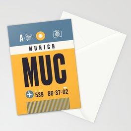 Baggage Tag A - MUC Munich Germany Stationery Cards