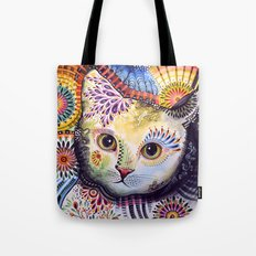 Lucy ... Abstract cat art Tote Bag