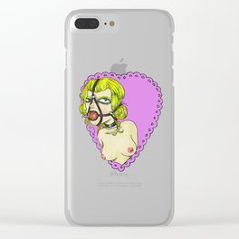 Gagged Lady Clear iPhone Case