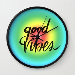 Good Vibes - Rainbow Pride Wall Clock