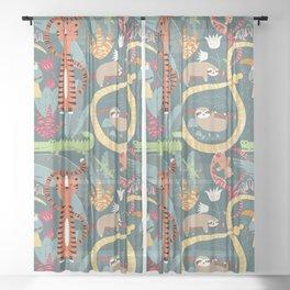 Rain forest animals 003 Sheer Curtain