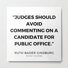 48     191115   Ruth Bader Ginsburg Quotes Metal Print