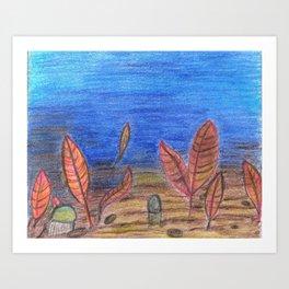 Ediacaran Fauna Art Print