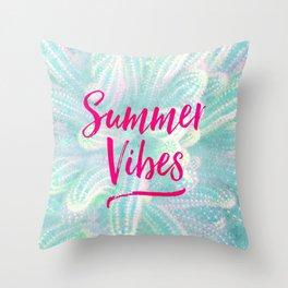 Summer Vibes! Throw Pillow