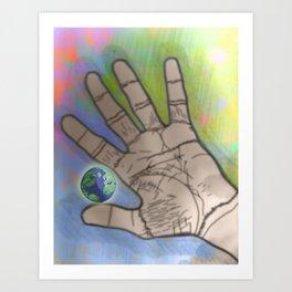 In my hand Art Print