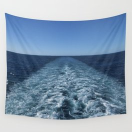 SEA BLUE WAKE AND HORIZON - Pacific Ocean Wall Tapestry