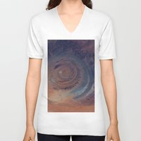 nasa V-neck T-shirts featuring eye in the sky, eye in the desert (nasa #01) by mackinac_