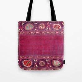 Shakhrisyabz  Southwest Uzbekistan Suzani Embroidery Print Tote Bag