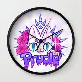 Prude Kitty Wall Clock