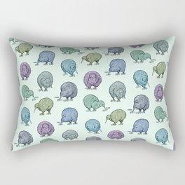 Hungry Kiwis – Cool Palette Rectangular Pillow