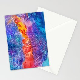 Poison Dart Frog abstract Stationery Cards