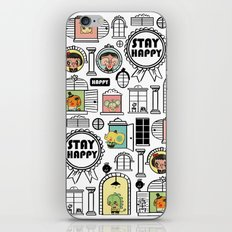 Pattern Stay Happy Animals iPhone & iPod Skin