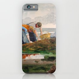 Winslow Homer1 - The Mussel Gatherers - Digital Remastered Edition iPhone Case