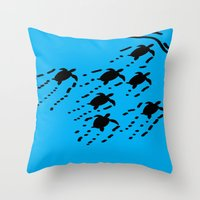 turtles Throw Pillows featuring Turtles!!! by designx79