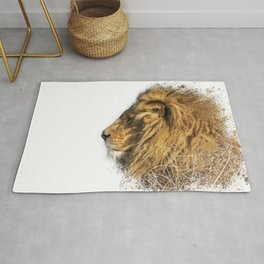 Lion Head Splatter Rug