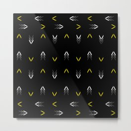 Arrows Pattern Metal Print