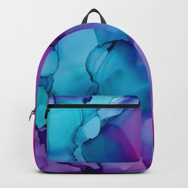 Alcohol Ink - Wild Plum & Teal Backpack