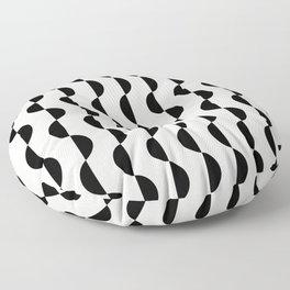 Gwynne Pattern - Black & White Floor Pillow