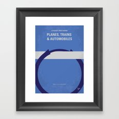 No376 My Planes, Trains and Automobiles minimal movie poster Framed Art Print