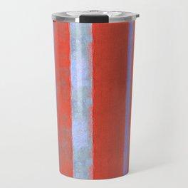 simplified serape in red Travel Mug