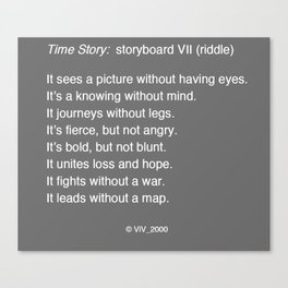 Time Story:  Storyboard VII (riddle) Canvas Print