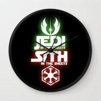 jedi Wall Clocks featuring Jedi by Liquidsugar