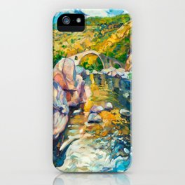 Bridge in the mountains iPhone Case