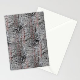 Red pine trunks Stationery Cards