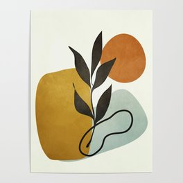 Soft Abstract Small Leaf Poster
