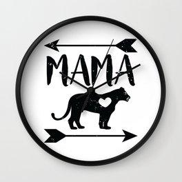 Mama Lion Shirt Wall Clock