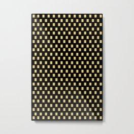 Gold Metallic Squares Metal Print
