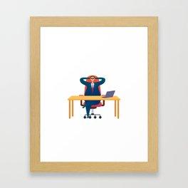 Big Boss Day Framed Art Print