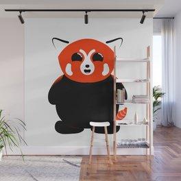 Red Panda Cub Smiling Wall Mural