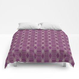 Hopscotch hex-Plum Comforters