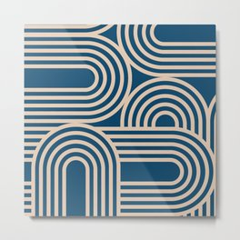 Abstraction_WAVE_GRAPHIC_VISUAL_ART_Minimalism_001 Metal Print