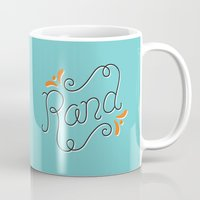lettering Mugs featuring Rand Lettering by janna barrett