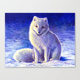 Peaceful Winter Arctic Fox Canvas Print
