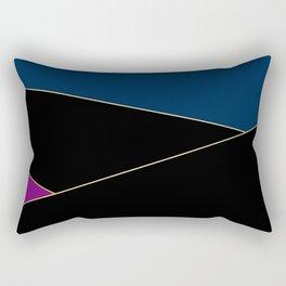 Angelica . Blue , black  , purple Rectangular Pillow