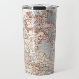 Vintage Map of Canada (1905) Travel Mug