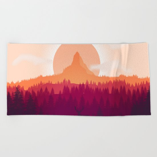 Can You See Deer In THe Art Beach Towel